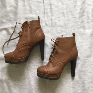 FOREVER 21 HEELED BOOTS